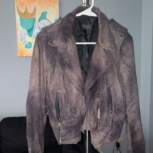 DIESEL 100% lamb leather moto jacket XS